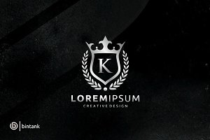 Luxury King Crown - Letter K Logo