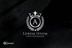 Letter A Luxury Crown Logo