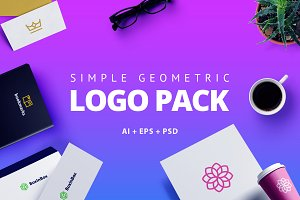 Simple Geometric Trend Logo Pack 39