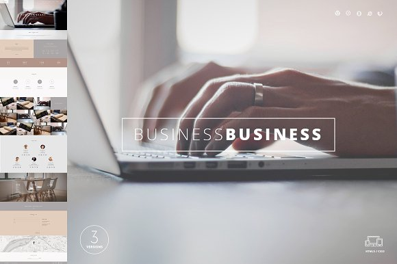 Business One Page Template HTML
