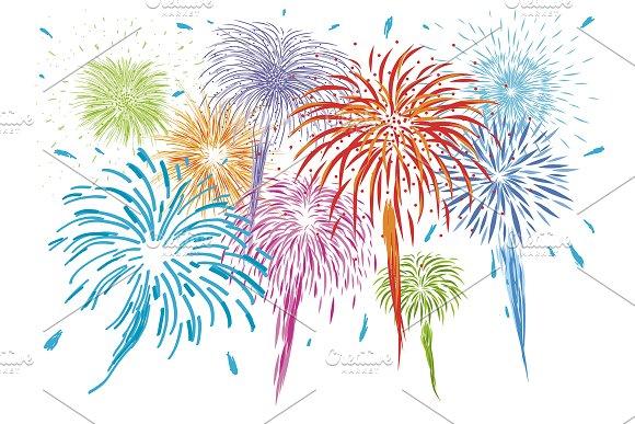 Colorful Fireworks Design