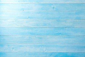 light blue wood plank floor