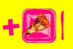 Slice of pizza. Food Porn Concept. F