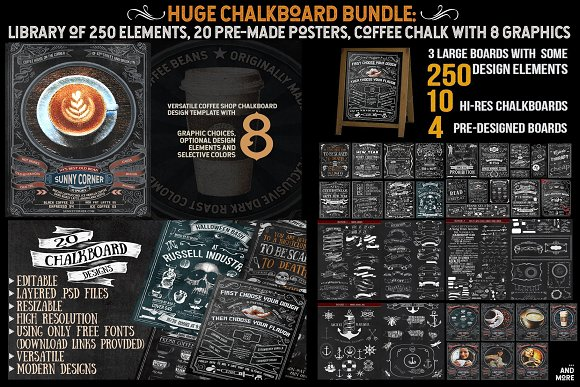 Ultimate Chalkboard Mega Bundle