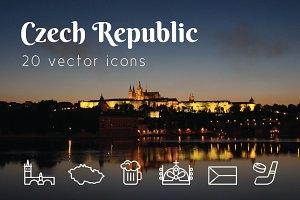 CZECH REPUBLIC - vector icons