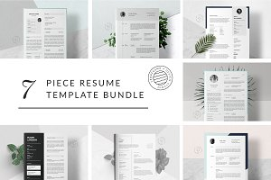 Big Bundle of 7 Resume Templates