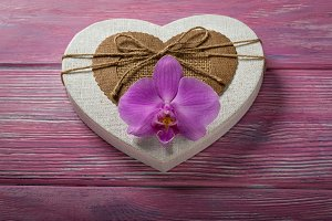 Gift box in the shape of a heart