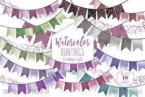Wedding Party Bunting Flag Banners
