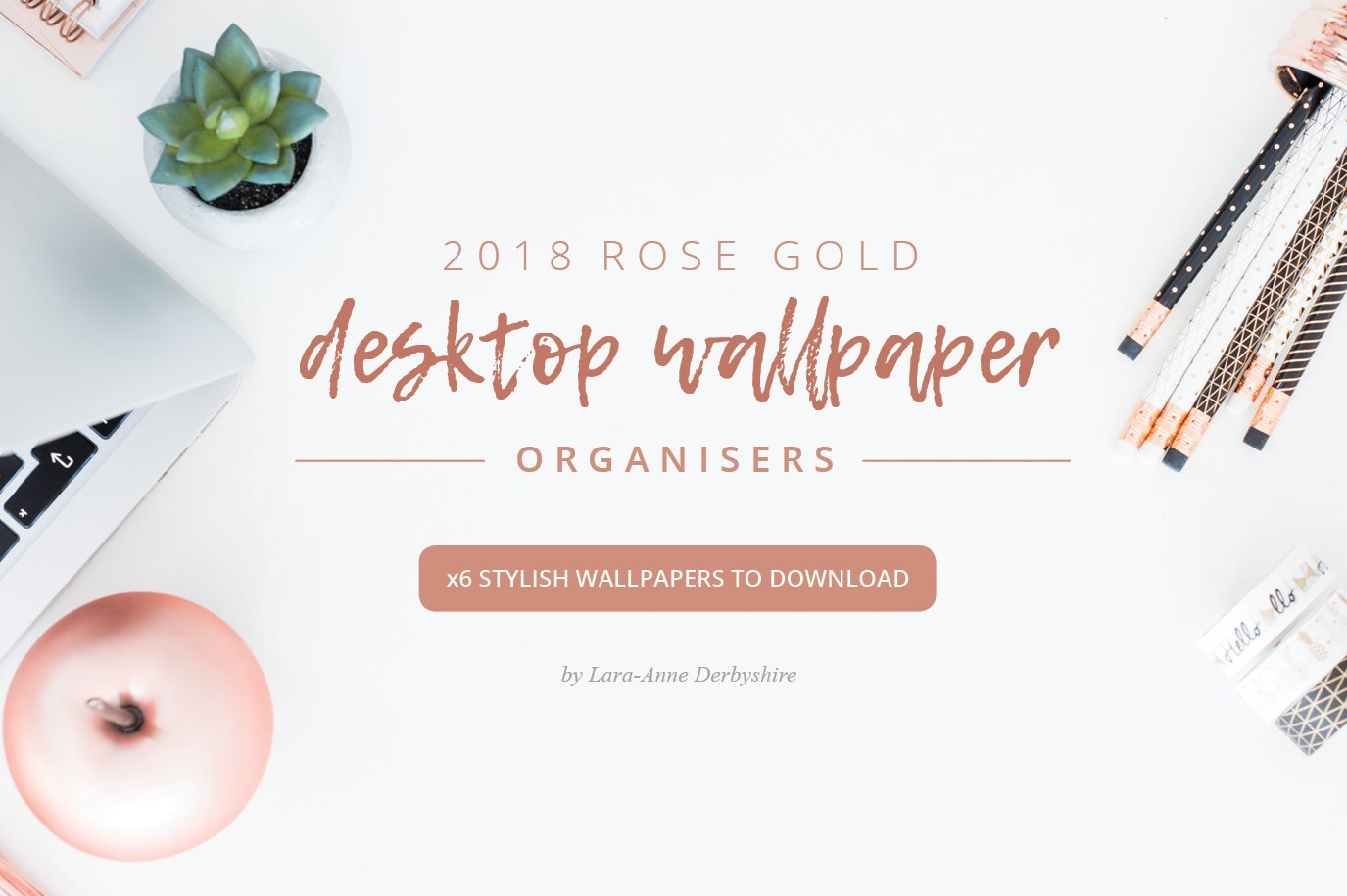 ROSE GOLD 2018 DESKTOP WALLPAPER ORG Stationery Templates Creative Market