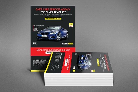 Rent A Car Flyer Templates Flyer Templates Creative Market