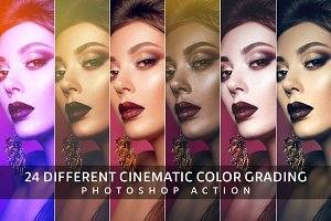 24 Color Grading Photoshop Action