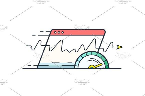 Internet speed in Illustrations