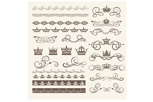 Design elements, vector, PNG. Set 1