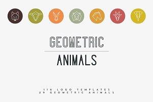 116 Geometric Animal Logos -30%