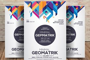 Geometrik Party Flyer Template