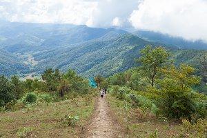 Walkway down the mountain