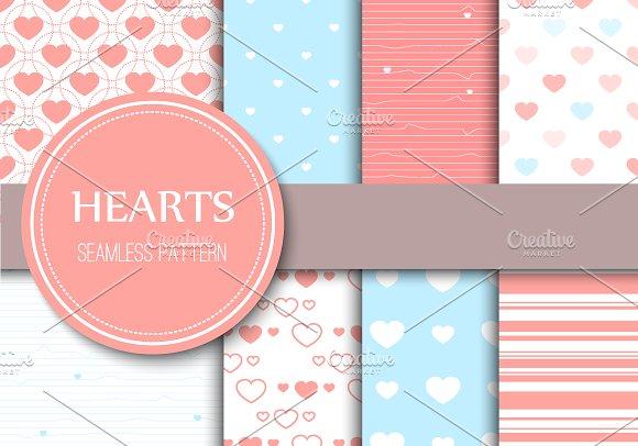 Hearts Seamless Patterns
