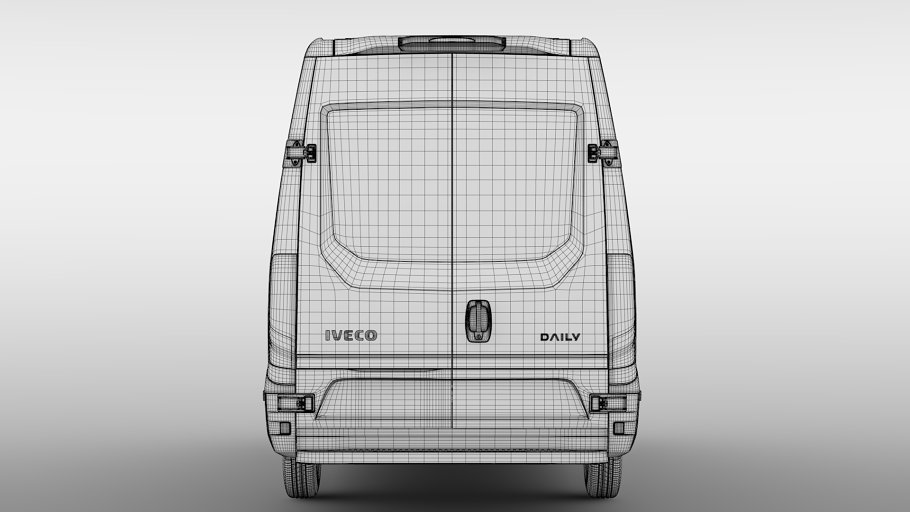 Iveco Daily Van L3H2 2017 in Vehicles - product preview 18
