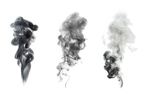 black smoke blot isolated