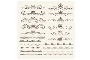 Design elements, vector, PNG. Set 2