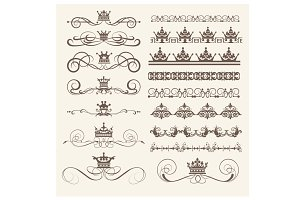 Design elements, vector, PNG. Set 3