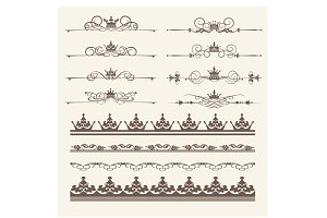 Design elements, vector, PNG. Set 4