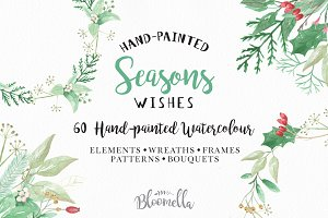 Watercolor Seasons Holidays Package