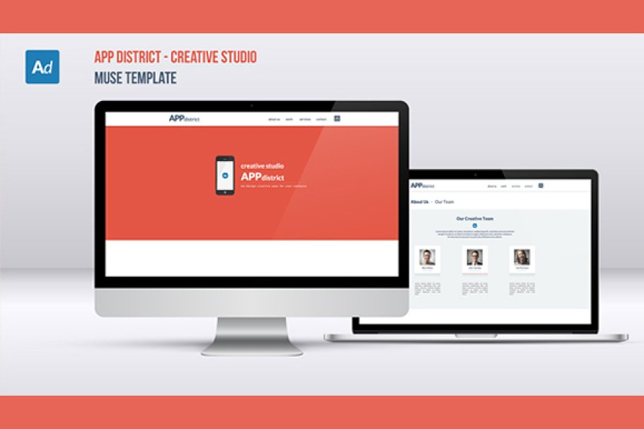 AppDistrict - Muse One Page Template