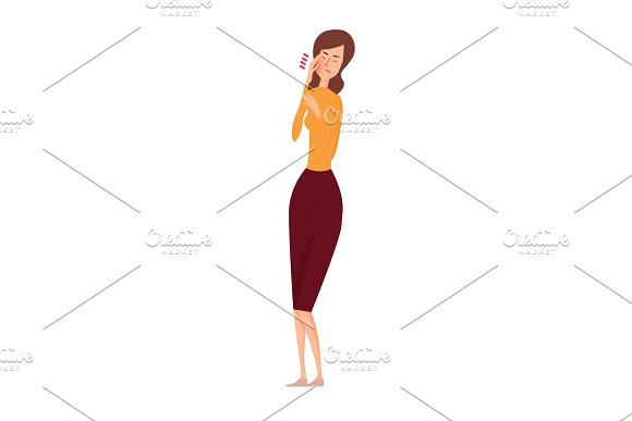 Woman suffering from toothache vector illustration