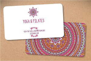 12 Business card in ethnic style