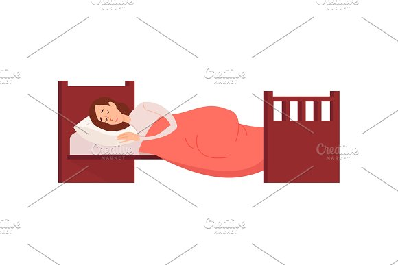 Woman sleeping or dreaming having a rest lying on couch