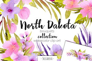 """North Dakota"". Bouquets set."