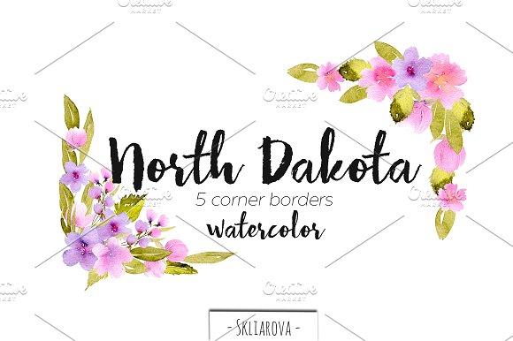North Dakota Corner Borders