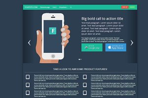 Bootstrap 3.0. flat landing page