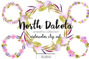 """North Dakota"". Wreaths."