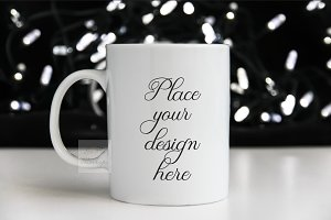 Coffee mug Mockup 11oz Cup template