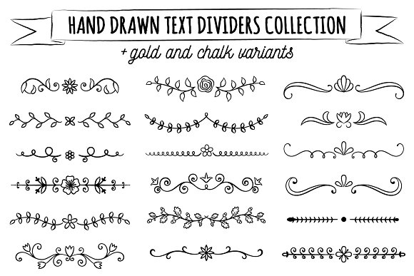 Text dividers collection