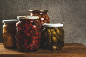 Homemade preserving, canning food