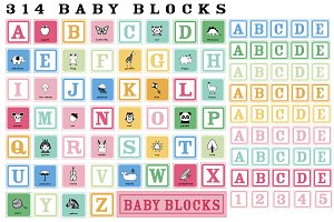 314 Baby Blocks Alphabet Illustrated