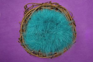 Newborn Backdrop - Teal Feathers