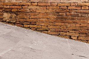 Steep walkway and old wall