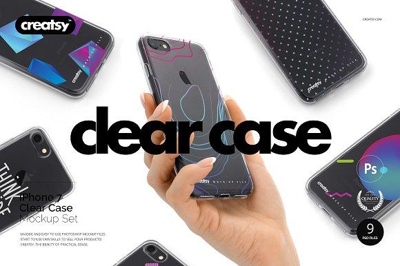 Free iPhone 7 Clear Case Mockup Set