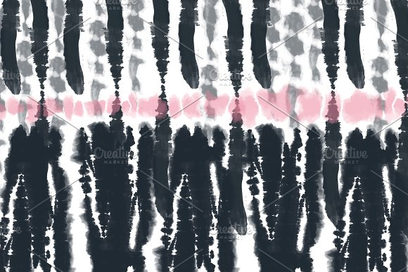 Digital Tie-Dye Stripe Backgrounds in Patterns - product preview 8