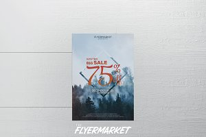 Winter Sales Flyer Template