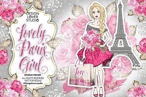 Lovely Paris Girl design