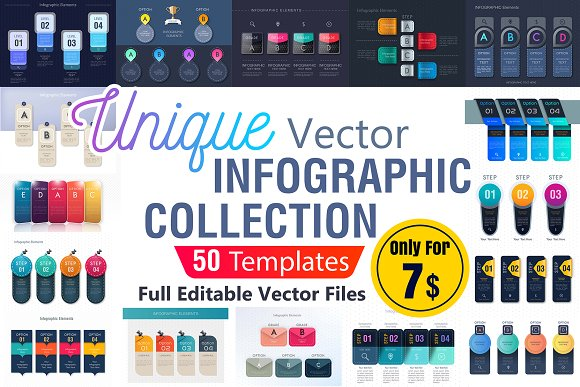 Infographic Template Collection - AI in Illustrations