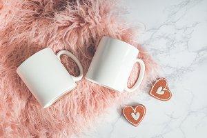 Romantic Two (Pair) Mug Mockup