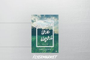 We are the Light Church PSD Flyer