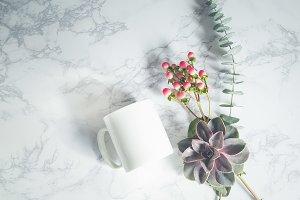 Styled Mug Mockup Desert Florals