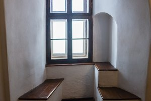 View from the window of a medieval castel